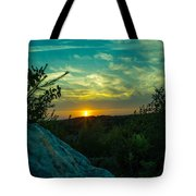 Sunset In Hudson Nh Tote Bag