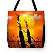 Sunset Lake Tote Bag by Robert Orinski