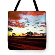 Sunset Landscape In Zambia Tote Bag