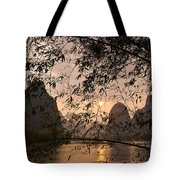 Sunset On The Li River Tote Bag
