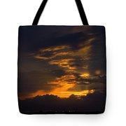 Sunset Over Daytona International Speedway Tote Bag
