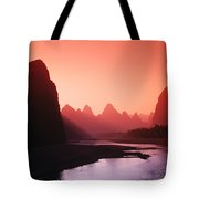 Sunset Over Li River Tote Bag