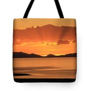 Sunset Over The Great Salt Lake Tote Bag