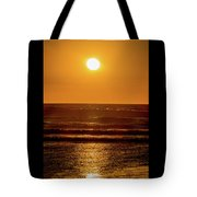 Sunset Over The Ocean Tote Bag
