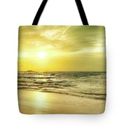 Sunset Over The Sea. Panorama Tote Bag