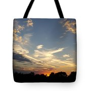 Sunset Sky Over Ohio Tote Bag
