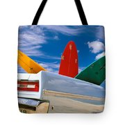 Surboards In A Plymouth Tote Bag