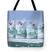 Surfing Sequence Tote Bag