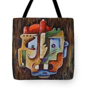 Surrealism Head Tote Bag
