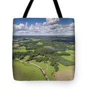 Suwalki Landscape Park, Poland. Summer Time. View From Above. Tote Bag