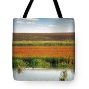 Swamp With Birds Landscape Autumn Season Tote Bag