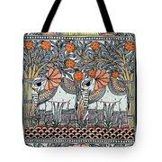 Swan Elephant Tote Bag