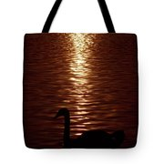Swan Silhouette Tote Bag