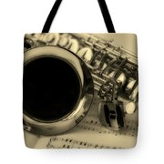 Sweet Sounds Of The Sax Tote Bag