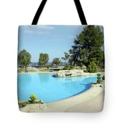 Swimming Pool Summer Vacation Scene Tote Bag