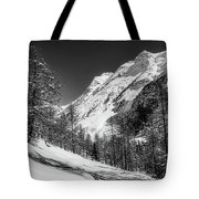 Swiss Winter Mountains Tote Bag