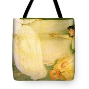 Symphony In White No 3 James Abbott Mcneill Whistler Tote Bag