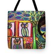 Talavera Owl Tree House Tote Bag