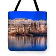 Talbot Lake Afternoon Panorama Tote Bag