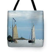 Tall Ships Sailing I Tote Bag by Suzanne Gaff