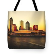Tampa At Sunset Tote Bag