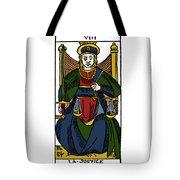 Tarot Card Justice Tote Bag