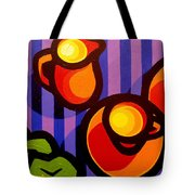 Tea And Apples Tote Bag