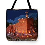 Ted Degrazia's Little Gallery Mission In The Sun Tucson Petley Postcard C.1968-2013 Tote Bag