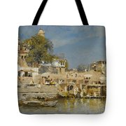 Temples And Bathing Ghat Tote Bag