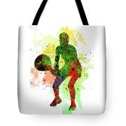 Tennis Player Tote Bag