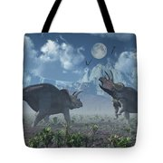 Territorial Confrontation Between Two Tote Bag