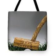 Texas Golf Putter. Tote Bag
