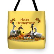 Thanksgiving Ducks Tote Bag
