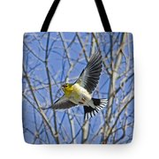 The American Goldfinch In-flight, Tote Bag