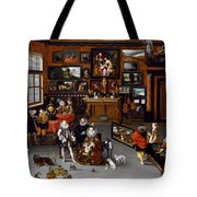 The Archdukes Albert And Isabella Visiting A Collector's Cabinet Tote Bag