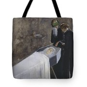 The Artist Attending The Mourning Of A Young Girl Tote Bag
