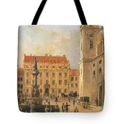 The Austria Fountain On The Freyung In Vienna With Rich Figural Tote Bag