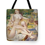 The Bathers Tote Bag by Pierre Auguste Renoir