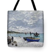 The Beach At Sainte Adresse Tote Bag by Claude Monet