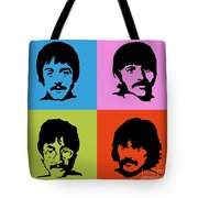 The Beatles Colors Tote Bag