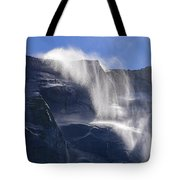 The Beautiful Bridalveil Falls Of Yosemite Tote Bag
