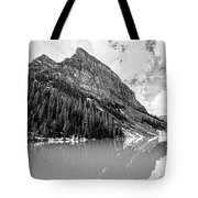 The Beauty Of Lake Louise Bw Tote Bag