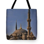 The Blue Mosque In Istanbul Turkey Tote Bag by David Smith