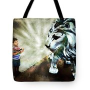 The Boy And The Lion 3 Tote Bag