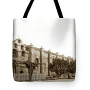The Campanario, Or Bell Tower Of San Gabriel Mission Circa 1890 Tote Bag