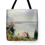 The Castle At Chillon Tote Bag by John William Inchbold