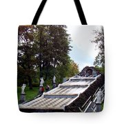 The Chessboard Hill Cascade Fountain On The Grounds Of The Peterhof Palace Tote Bag
