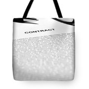The Legal Contract Tote Bag