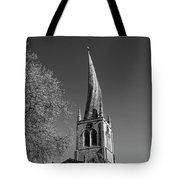 The Crooked Spire Of St Mary And All Saints Church, Chesterfield Tote Bag
