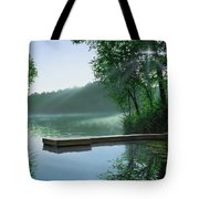 The Cross And The  Light Tote Bag